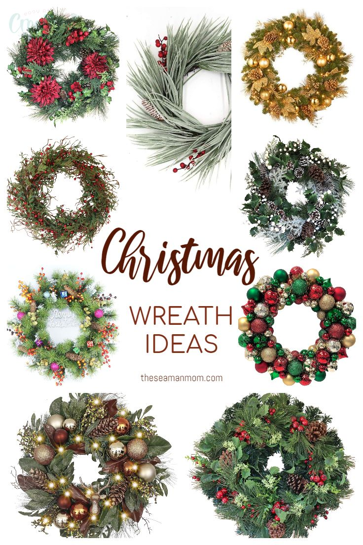 Looking for Christmas wreath ideas to decorate your front door or for gifts to give this holiday season? These beautiful Christmas wreaths are sweet, festive, very decorative and probably the easiest way to add some holiday cheer to your front door decor! via @petroneagu