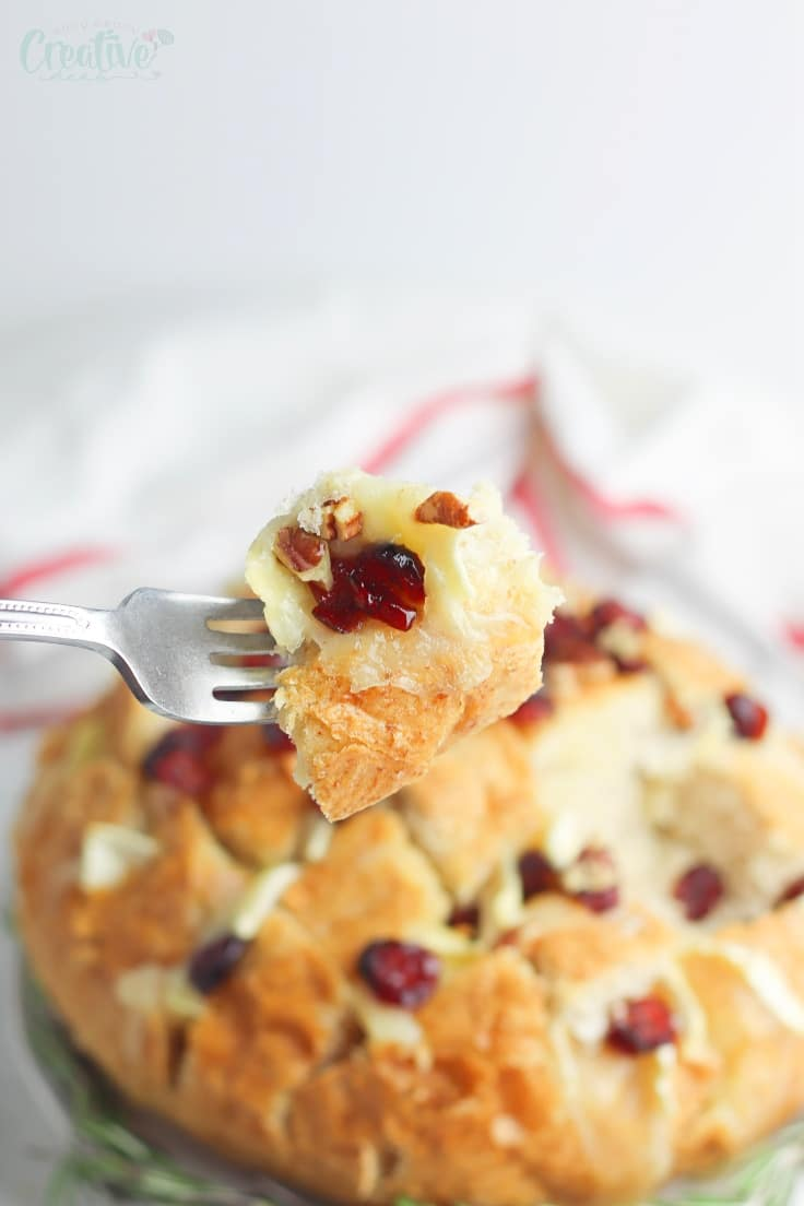 Cranberry brie appetizer