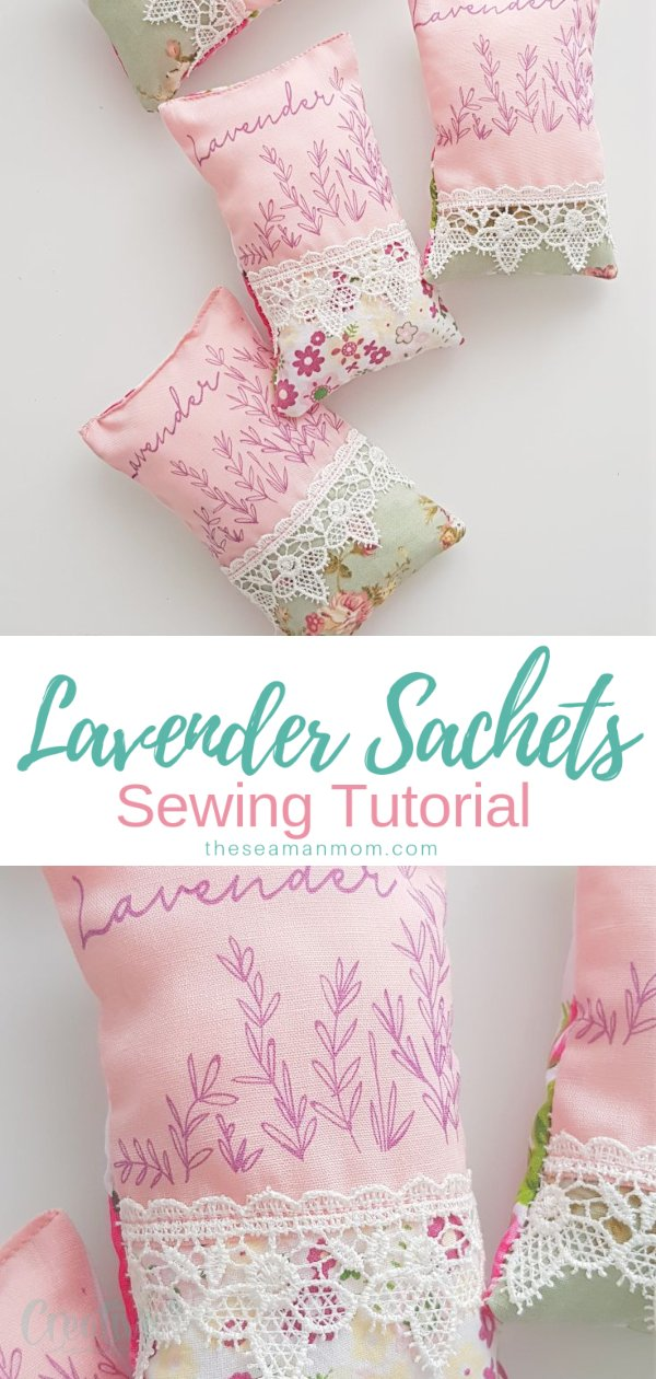 Spruce up your stuffy drawers and closets with a bunch of cute DIY lavender sachets! Making lavender bags is crazy easy and quick and a great project for beginner sewists! via @petroneagu