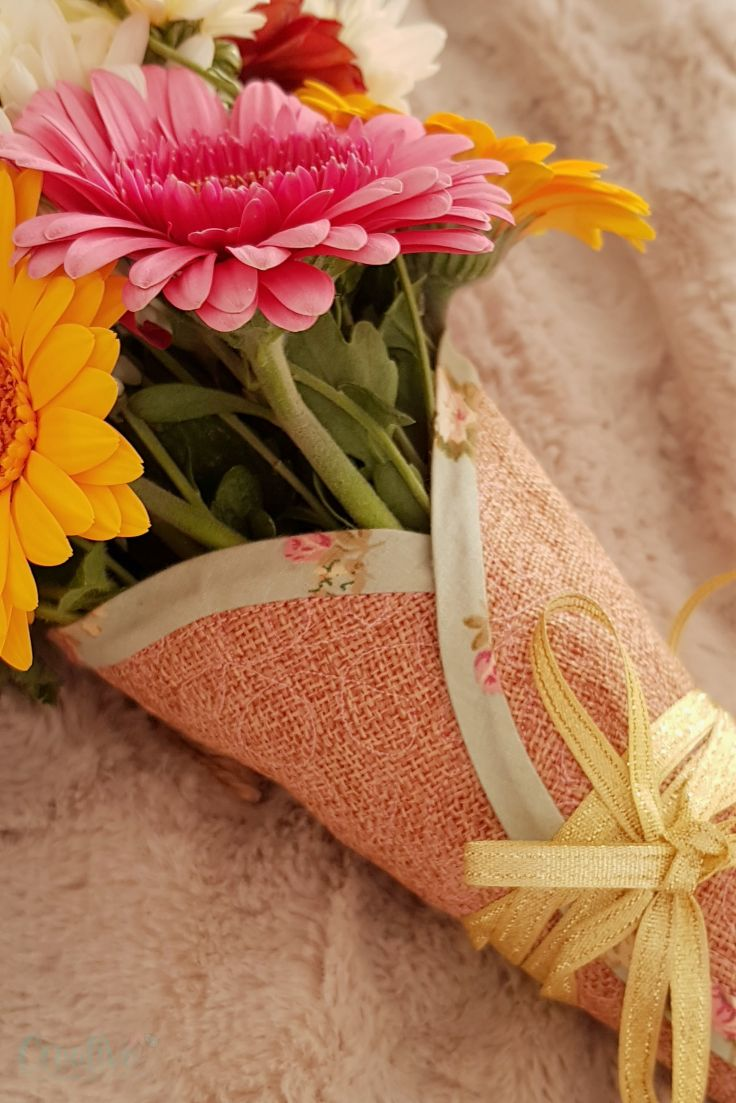 Fabric flower cone