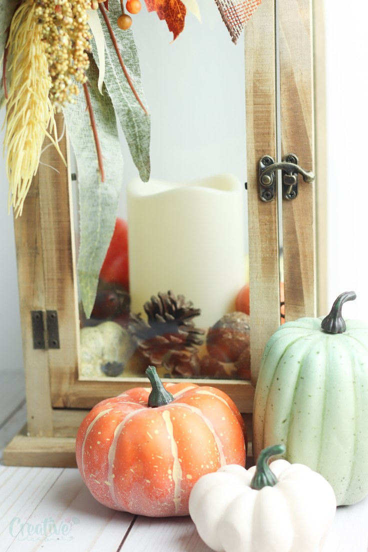 Fall lantern decor