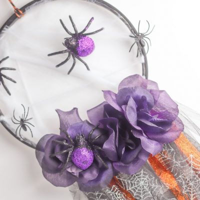 Spider dream catcher craft