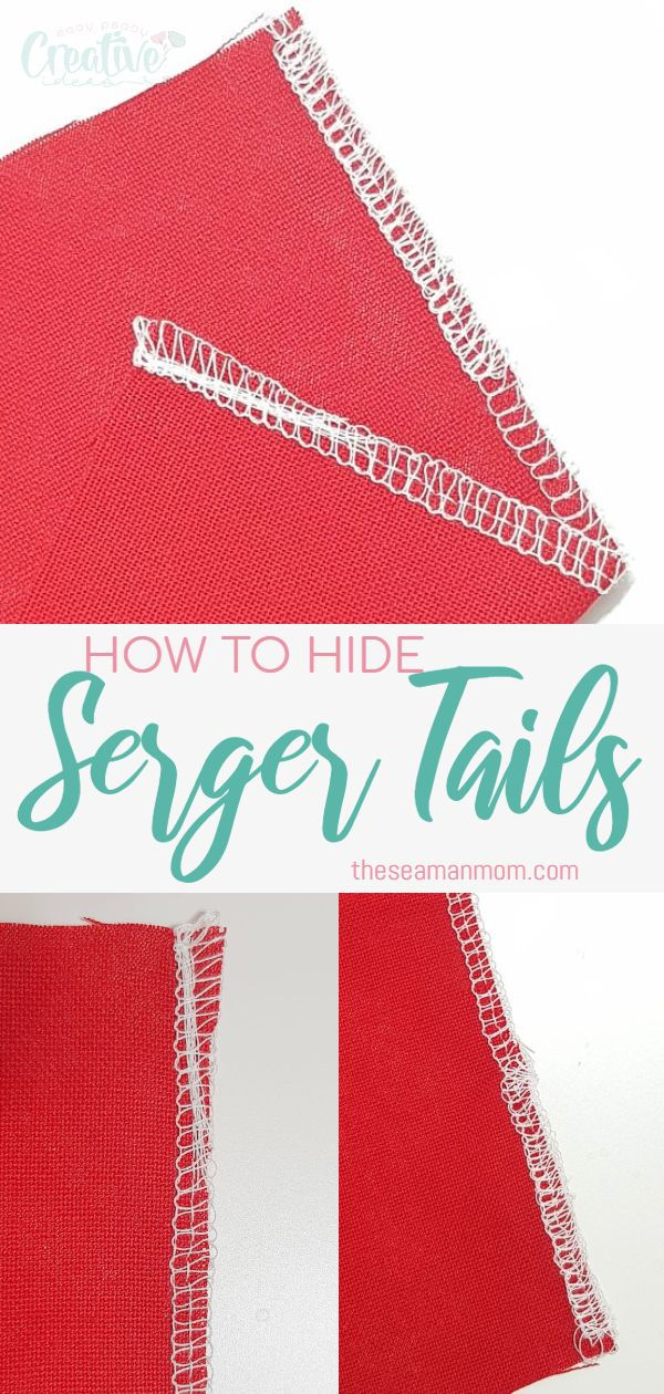 How to hide serger tails