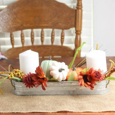 DIY Farmhouse fall centerpiece