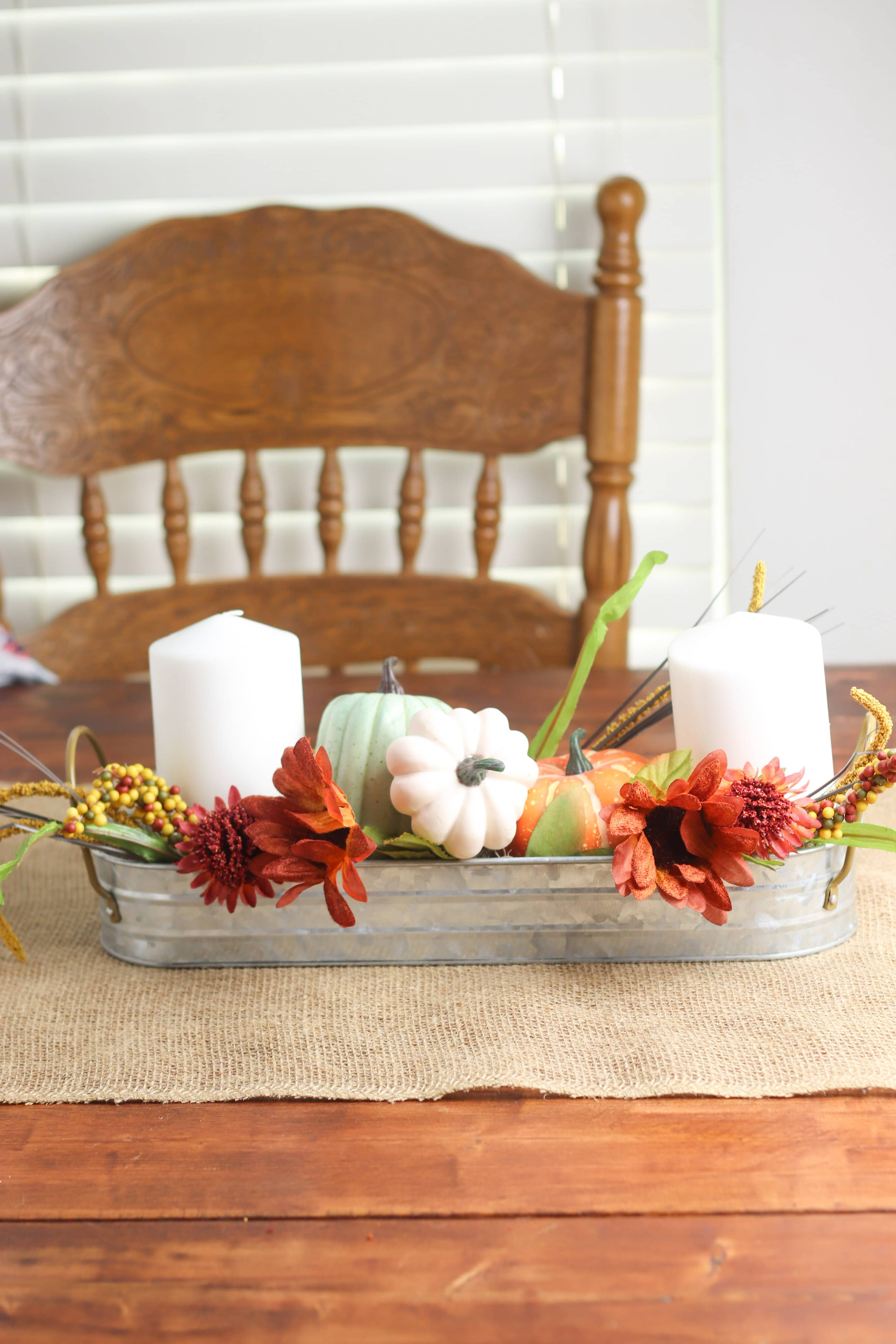 Diy Fall Centerpiece Beautiful Farmhouse Table Decoration