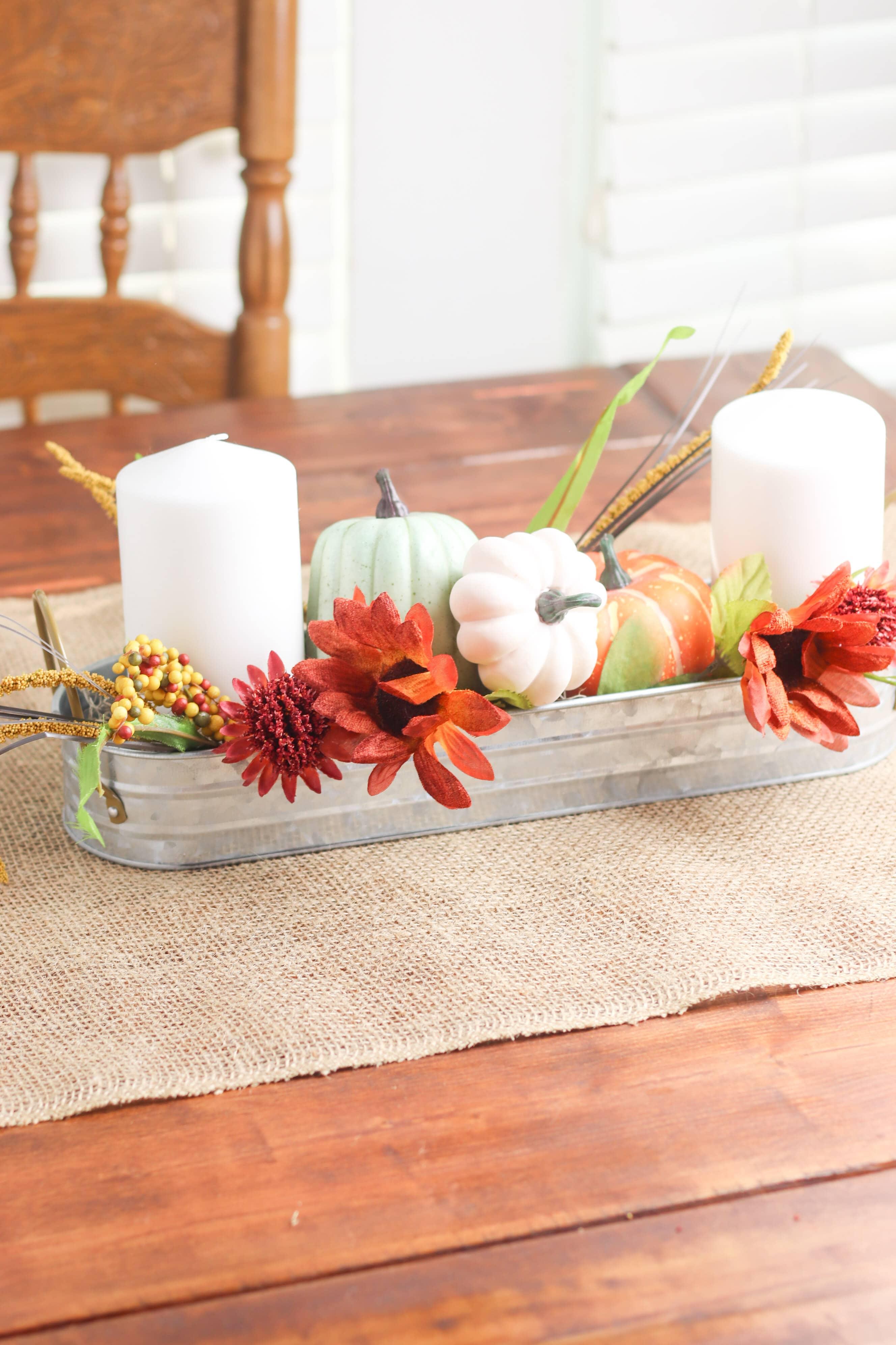 DIY pumpkin centerpiece