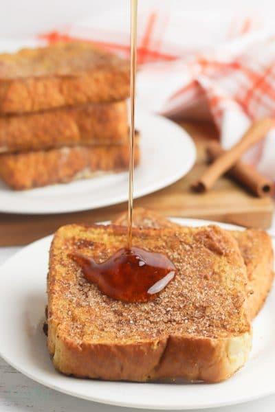 Pumpkin pie french toast