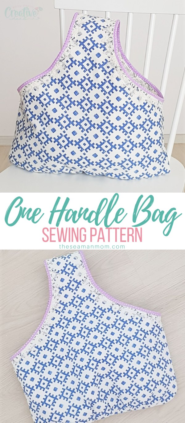 Visit the market or the mall in style when you make your own personalized fabric tote bag! This shopping bag pattern is pretty, functional and easy to use and comes together in no time! via @petroneagu