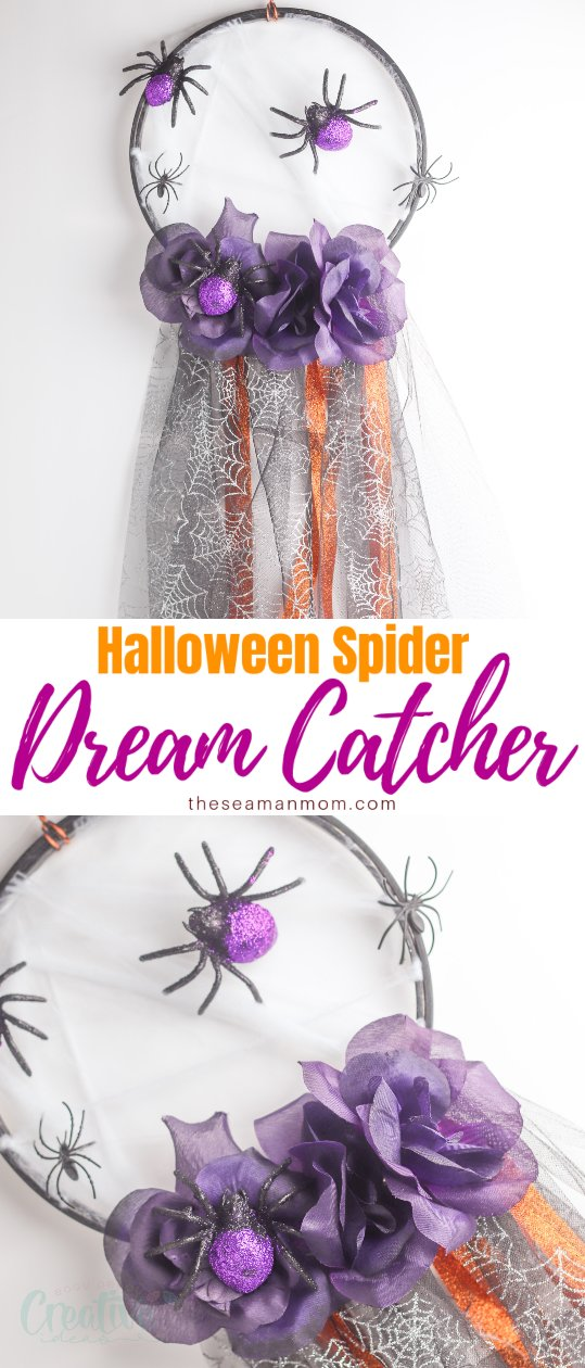 This pretty spider dream catcher is a unique take on a classic piece of wall décor! And in addition to being beautiful, this lovely spider web dream catcher is so easy to make! via @petroneagu