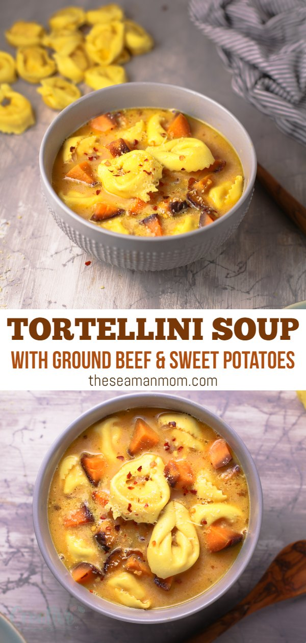 This tortellini soup recipe is a cozy 30-minute meal! A delicious, comforting dish that's packed with flavor while also being totally easy to make. via @petroneagu
