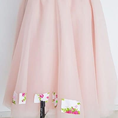 How to pin tulle quick sewing tip