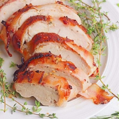 Crazy easy bacon wrapped turkey breast you have to make now