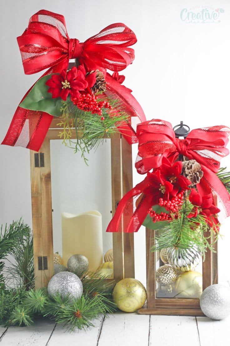 Diy Christmas Lanterns Outdoor Decorations Or Table Centerpieces