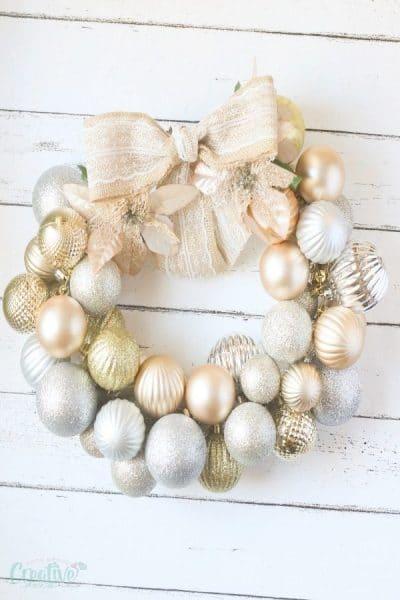 DIY Christmas ball wreath