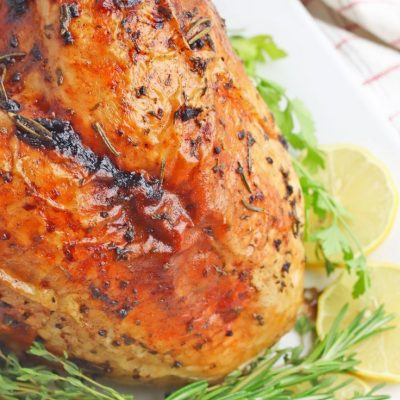 Lemon garlic herb roasted turkey breast