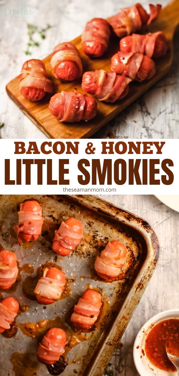These bacon wrapped smokies are the perfect appetizer for any party or get together you plan to host! This delicious bacon wrapped smokies recipe has the perfect balance of sweetness + spiciness + saltiness and is super easy to make!  via @petroneagu