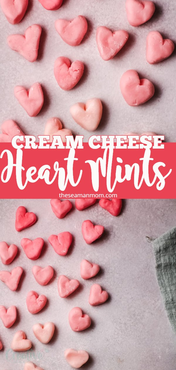 This cream cheese mints recipe is as easy and as delicious as it can get! These adorable heart mints are so creamy they will melt in your mouth! Make them in your favorite colors and shapes to fit the occasion. Perfect for Valentines day, Easter, baby showers, weddings and pretty much every occasion! via @petroneagu
