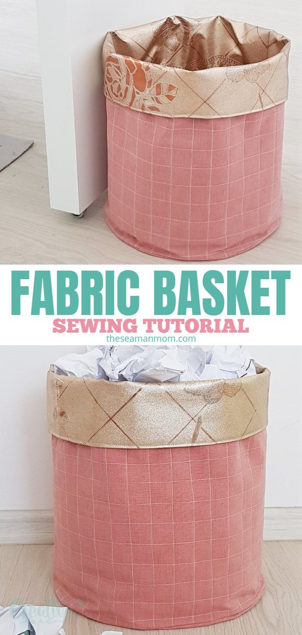 Fabric bins are something that you can never really have or make enough of! Learn how to make your own DIY fabric basket with this 30 minutes fabric bin tutorial! via @petroneagu