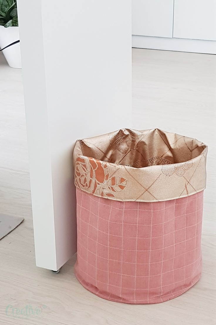 DIY fabric bin