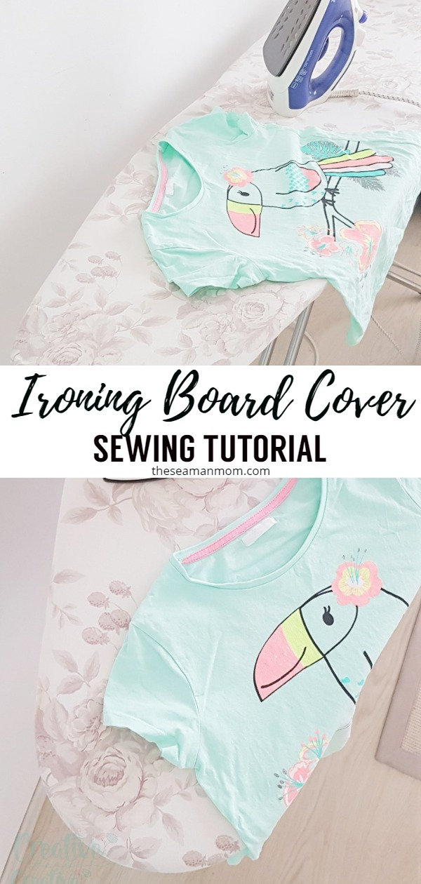 Make an ironing board cover in less than 30 minutes with this tutorial for a DIY ironing board cover! Sewing an ironing board cover that will fit your ironing board perfectly, in the fabric you love is a lot easier than you think! via @petroneagu