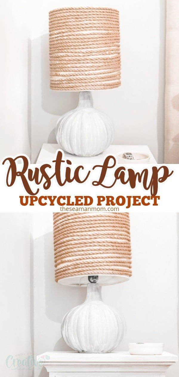 Giving an old lamp new life is a super easy project that will completely overhaul the look and feel of the room! To make your own DIY rustic lamp you just need an old lamp, some fabric glue, rope, paint and around 1 hour of your time. If you've been looking for cheap farmhouse furniture, upcycling some of your old furniture pieces is a great way to start! via @petroneagu