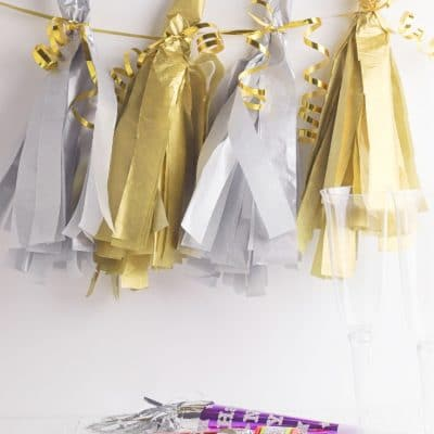 Gold & Silver DIY Tissue Paper Tassels