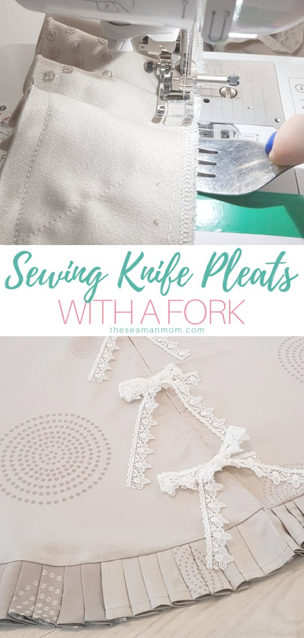 Fork pleats are a cute and chic way to add fun details to handmade projects! In this tutorial you'll learn how to make pleats using a fork to make perfect and neat pleats! via @petroneagu
