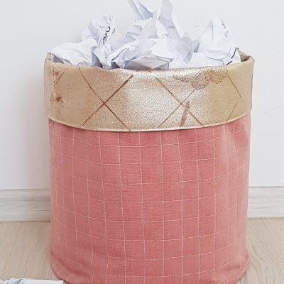 DIY fabric basket sewing tutorial