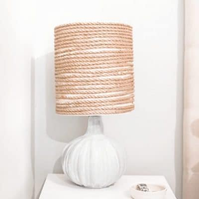DIY rustic lamp upcycling idea