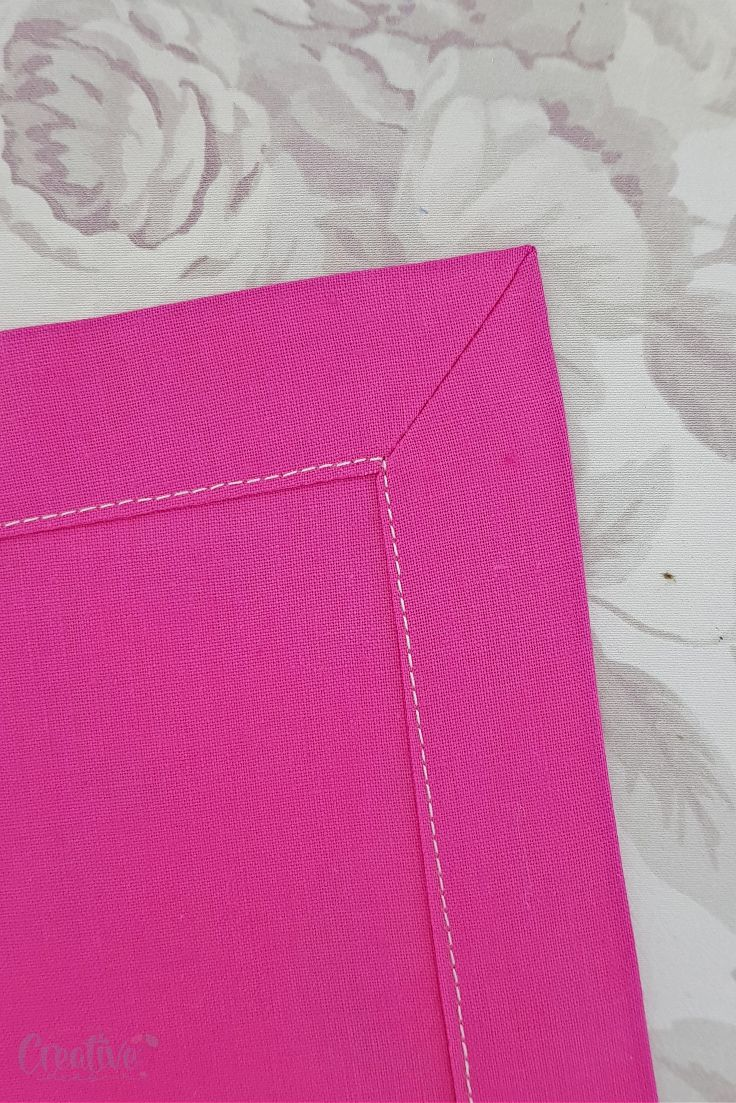 Sewing mitered corners
