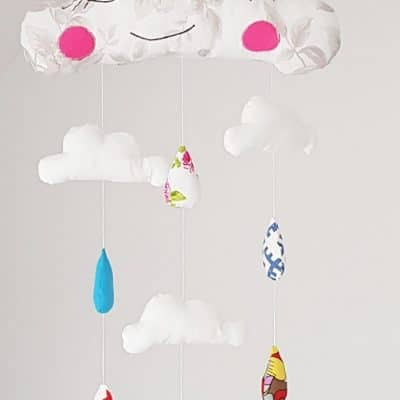 Cloud baby mobile sewing pattern