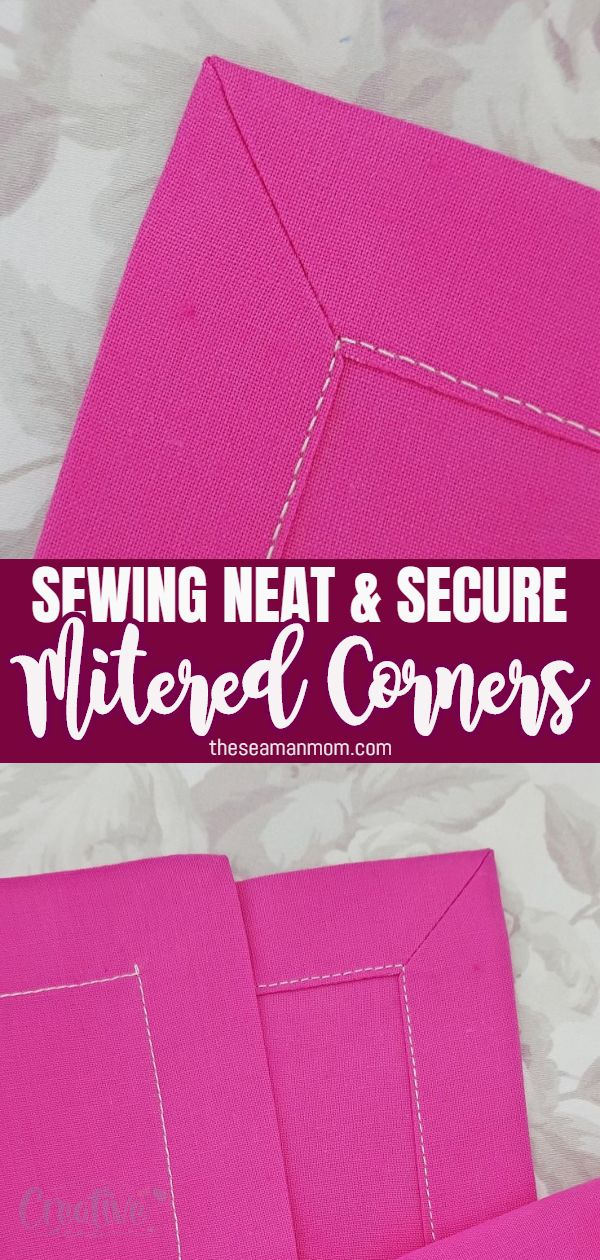 Learn how to miter corners with this easy method that creates beautiful polished corners every time! Makes sewing mitered corners fun instead of intimidating! Perfect method to finish napkins, blankets, quilts, burp cloths and more! via @petroneagu