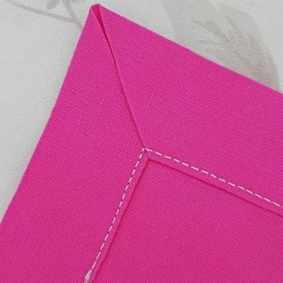 Mitered corners sewing tutorial