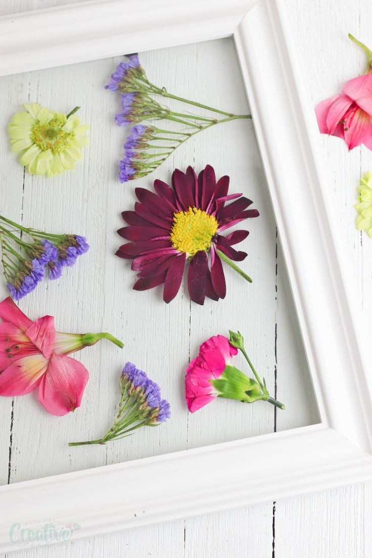 Pressed flowers craft