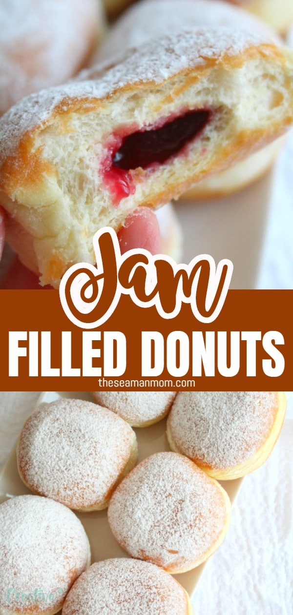 Make an easy and simple but yummylicious treat that both kids and adults will love with these foolproof jam donuts, filled with homemade strawberry jam! Nothing beats a classic dessert! via @petroneagu