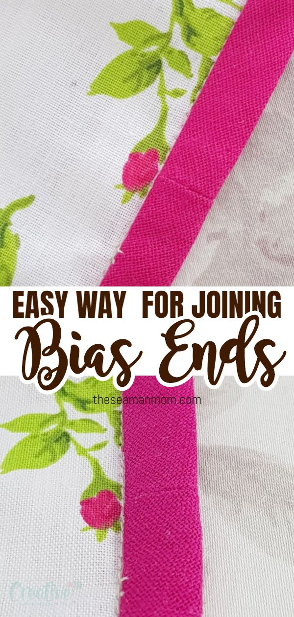 Struggling to get the perfect fit when joining bias binding ends? No need to stress anymore as I've got the perfect method for you! This technique is crazy easy and simple and will give you a beautiful, almost invisible finish! via @petroneagu