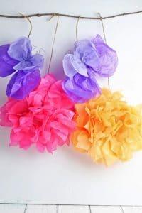 Paper flower backdrop