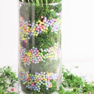 DIY Pastel Spring vase