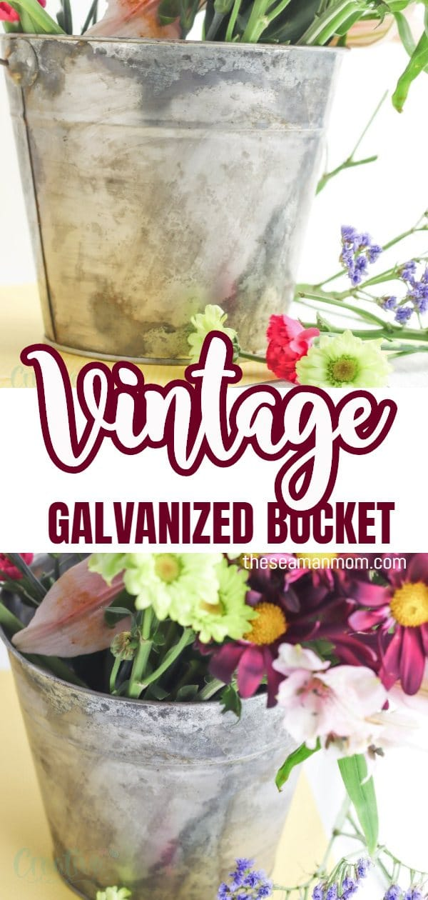 I don't know about you but to me there's something quite magical about rusty metal! But there are times when those reclaimed pieces are out of budget, or difficult to find! Here you'll learn how to make a vintage galvanized bucket from new shiny metal bucket and then apply the method to any metal piece you like to infuse that wonderful patina! via @petroneagu