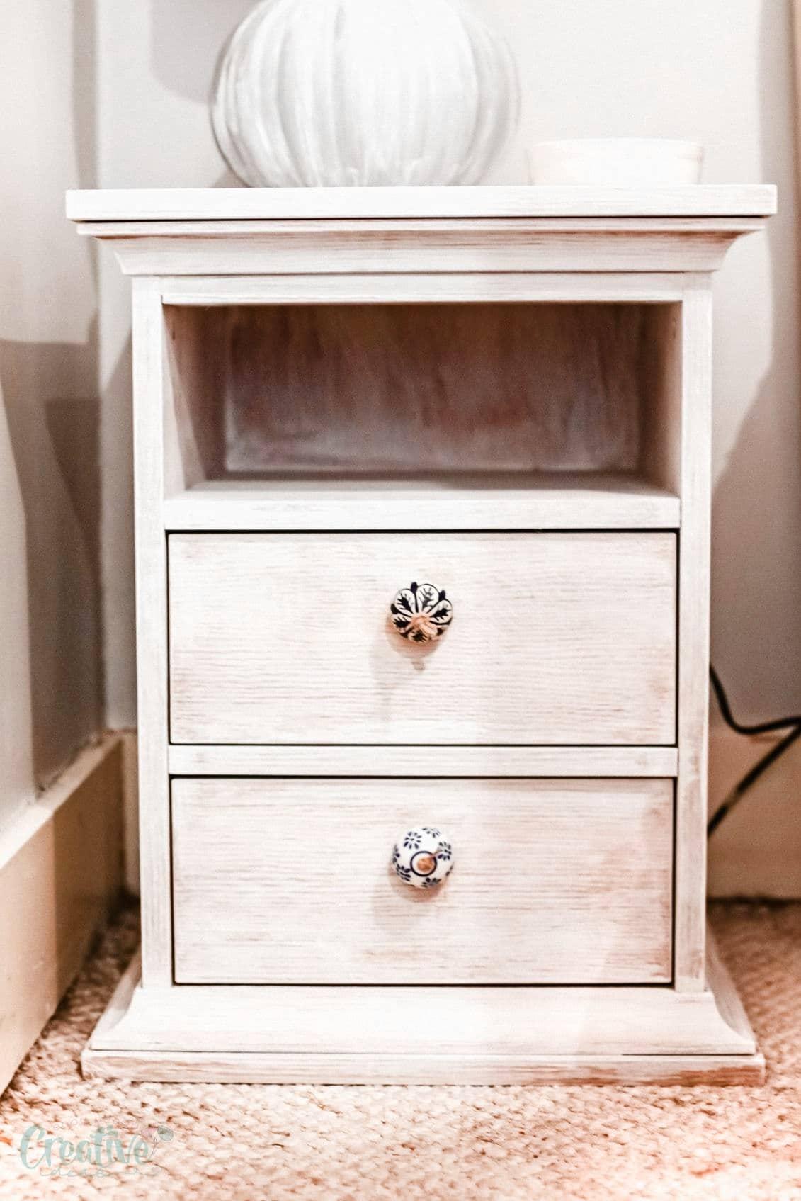 Whitewashed nightstand