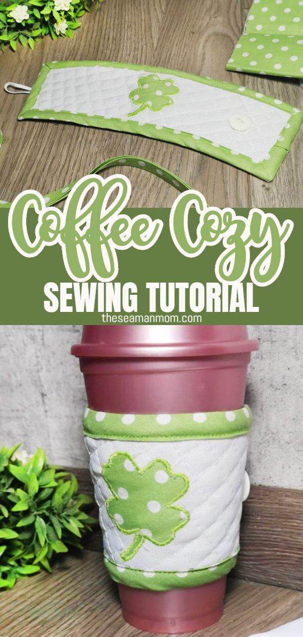 Are you looking for an easy yet beautiful St. Patrick's Day sewing project for you or your friends? Look no more! I have something that will raise the Irish spirit of everyone you know: an easy and cute coffee cup cozy! via @petroneagu