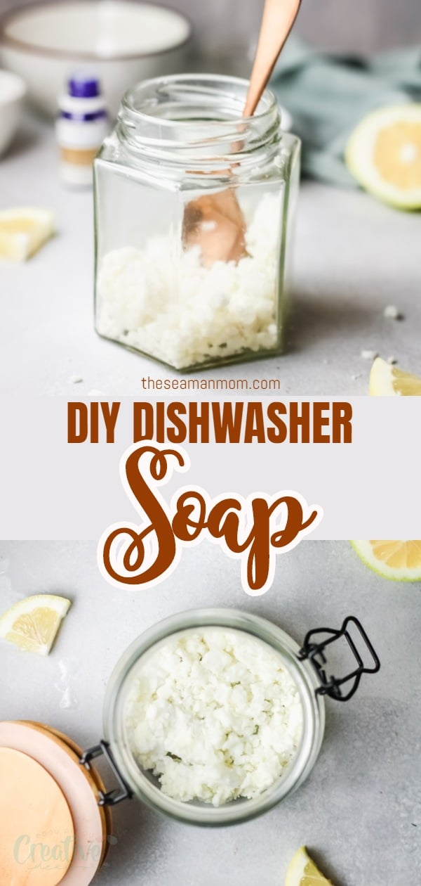 This is a simple tutorial on how to make your very own natural DIY dishwasher soap without using harsh and artificial chemicals. Best of all? It will leave your dishes squeaky clean, shiny and smelling amazing! Keep a jar right next to your dishwasher, you'll love to use it often! via @petroneagu
