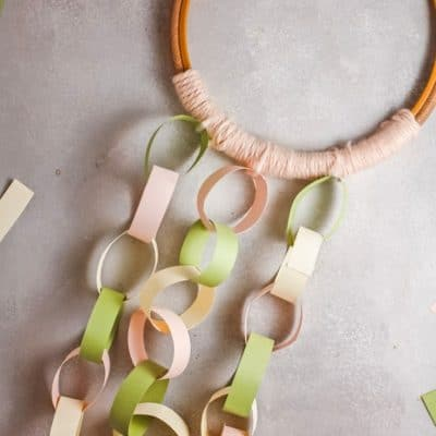 DIY paper chain decorations