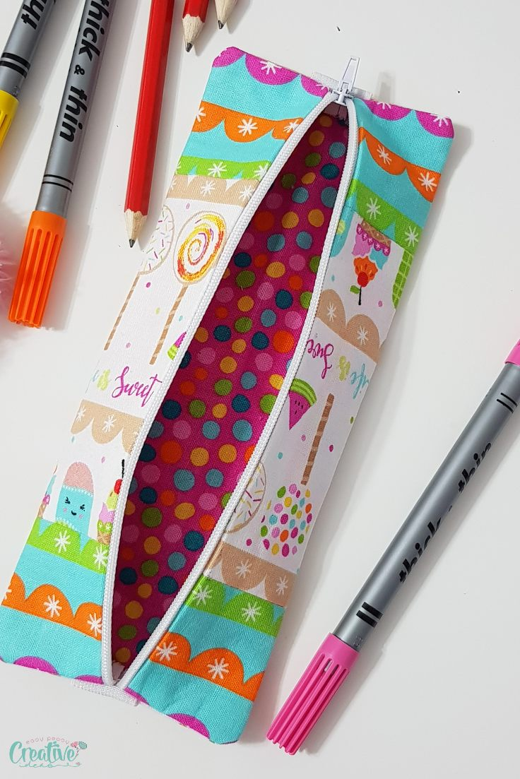 Pencil case sewing pattern