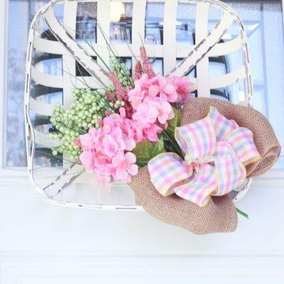 DIY Tobacco basket wreath