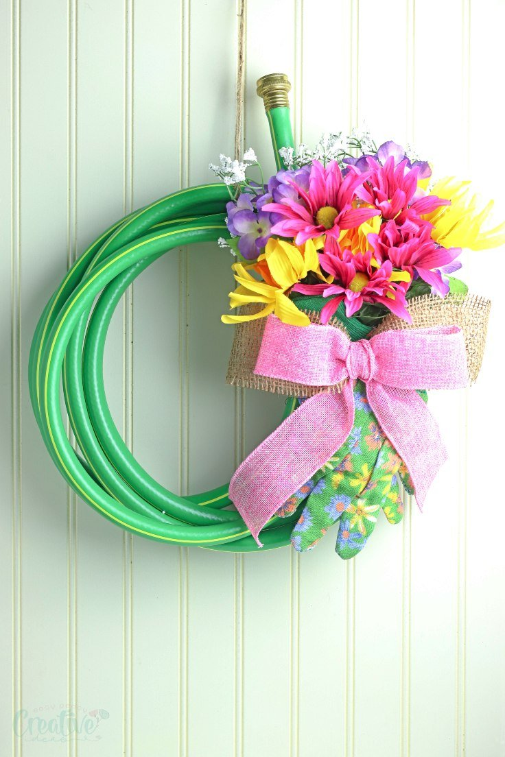 Water hose wreath