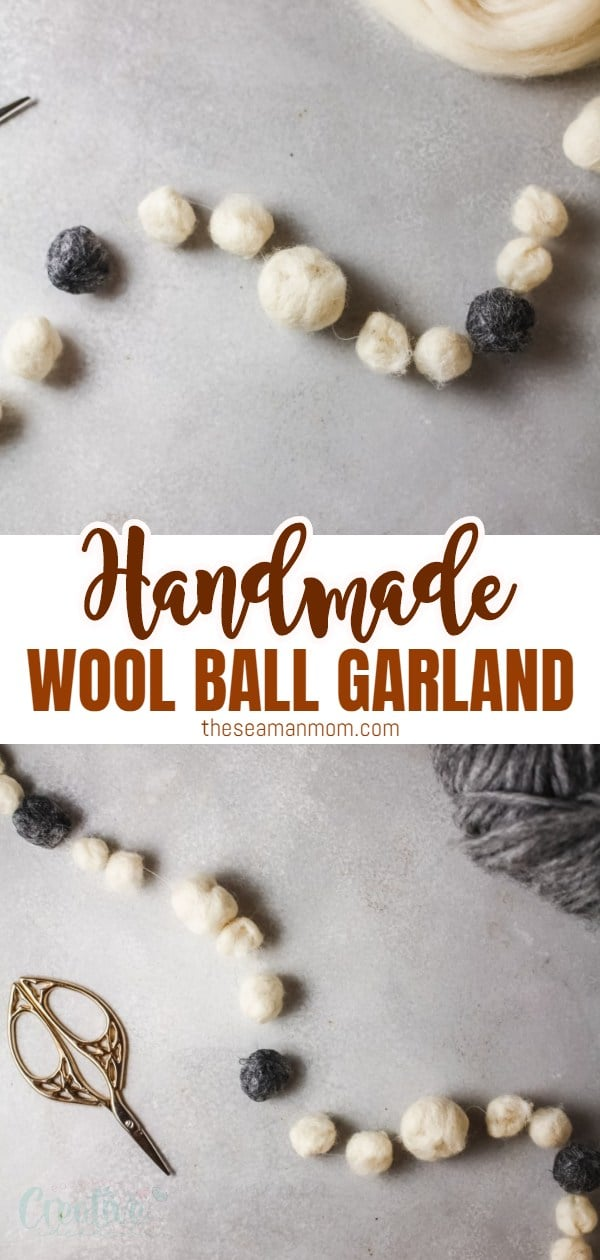 Wool ball garland