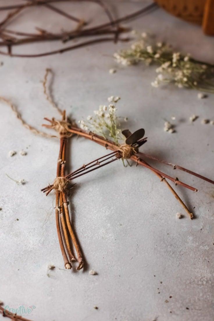 Twig wall decor