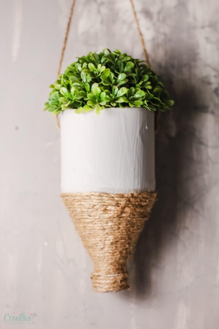 Hanging bottle planter