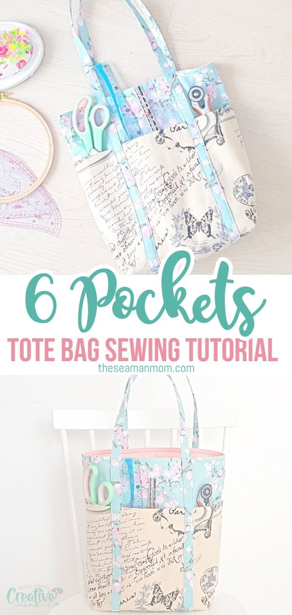 Do you love bags and have to have one for pretty much everything? This 6 pocket tote bag is fun to make, super functional with plenty of pockets and in the perfect size, not too large, not too small!  via @petroneagu